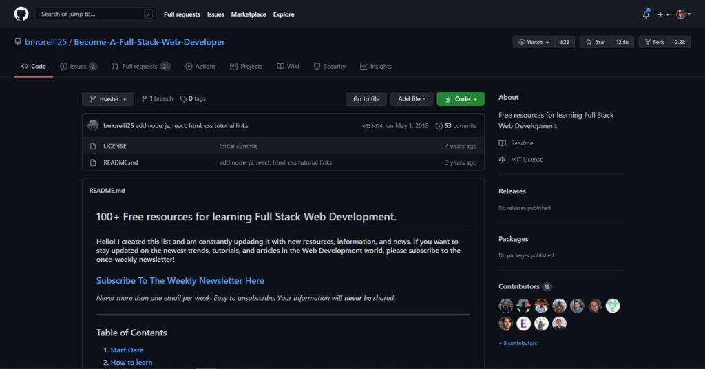 Full Stack Web Development:
