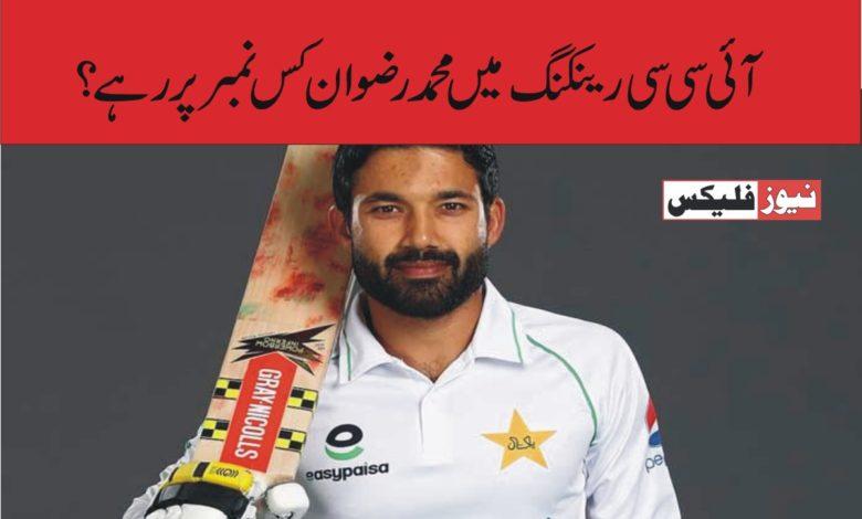 آئی سی سی رینکنگ: پاکستان کے محمد رضوان ٹاپ ٹین ٹی ٹونٹی بلے بازوں کی فہرست میں شامل