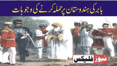 بابر کی ہندوستان پر حملہ کرنے کی وجوہات