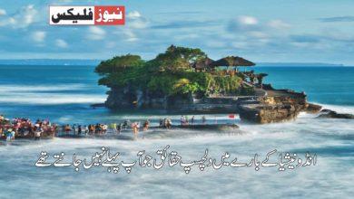 انڈونیشیا کے بارے میں ایسی حقیقت جو آپ پہلے نہیں جانتے تھے