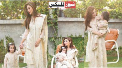 عائشہ خان اپنی بیٹی ماہ نور کے ساتھ