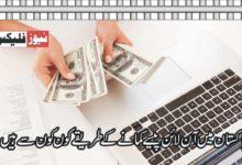 پاکستان میں آن لائن پیسہ کیسے کمایا جائے؟