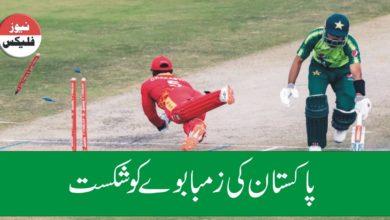 پاکستان بمقابلہ زمبابوے ، پاکستان نے زمبابوے کو ایک اننگ اور 116 رنز سے شکست دے دی