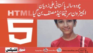 14 سالہ پاکستانی ، علی زویان نے HTML5 کے بارے میں ایک کتاب لکھی - ایمیزون مصدقہ مصنف