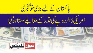 امریکی ڈالر روپے کی قدر میں سستا ہو گیا پاکستان کیلئے بڑی خوش خبری