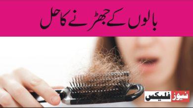 بالوں کے جھڑنے کا حل