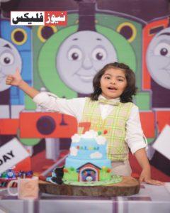 ندا یاسر جی ایم پی کے سیٹ پر اپنے بیٹے بالاج کی سالگرہ مناتے ہوئے