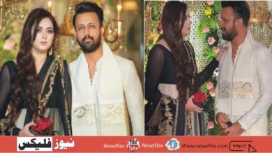 عاطف اسلم نے اپنی اہلیہ کے ساتھ لاہور میں ایک شادی میں شرکت کی