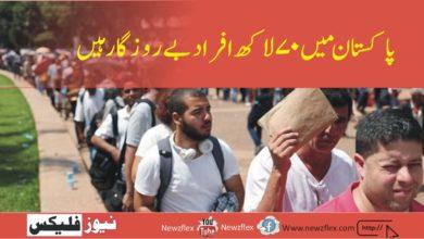 پاکستان میں 70 لاکھ افراد بے روزگارہیں