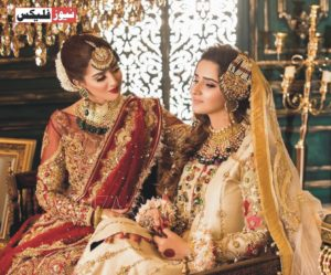 جنت مرزا اور علیشبہ انجم اپنی تازہ دلہن کی شوٹ میں شاندار نظر آرہی ہیں۔