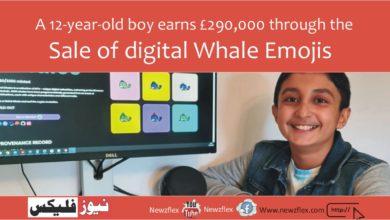A 12-year-old boy earns £290,000 through the sale of digital Whale Emojis